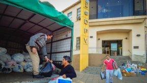 Donaron elementos para los afectados por las inundaciones en el marco de la iniciativa Vialidad Solidaria