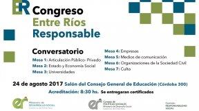 Se realizará un Congreso provincial de Responsabilidad Social