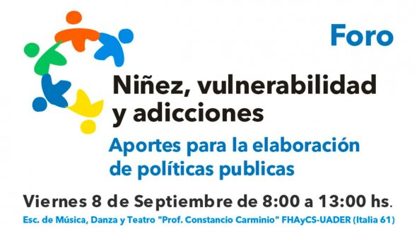 Se realizará en Paraná un Foro sobre Niñez y Adicciones
