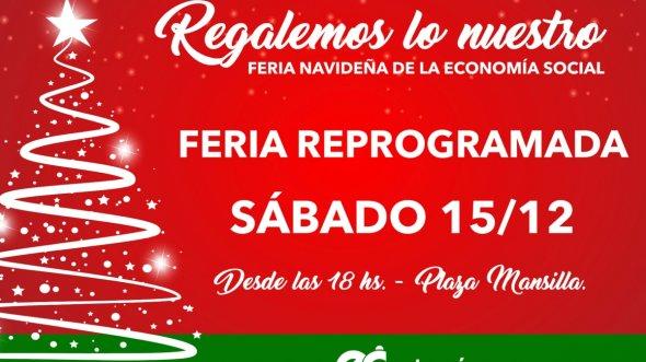 Se reprogramó para el sábado la feria navideña Regalemos lo Nuestro