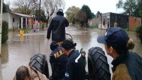 La provincia continúa con la asistencia a los afectados por las lluvias